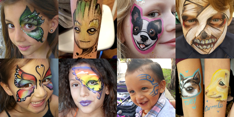 Face Painting La Childen S Parties And Events Quality