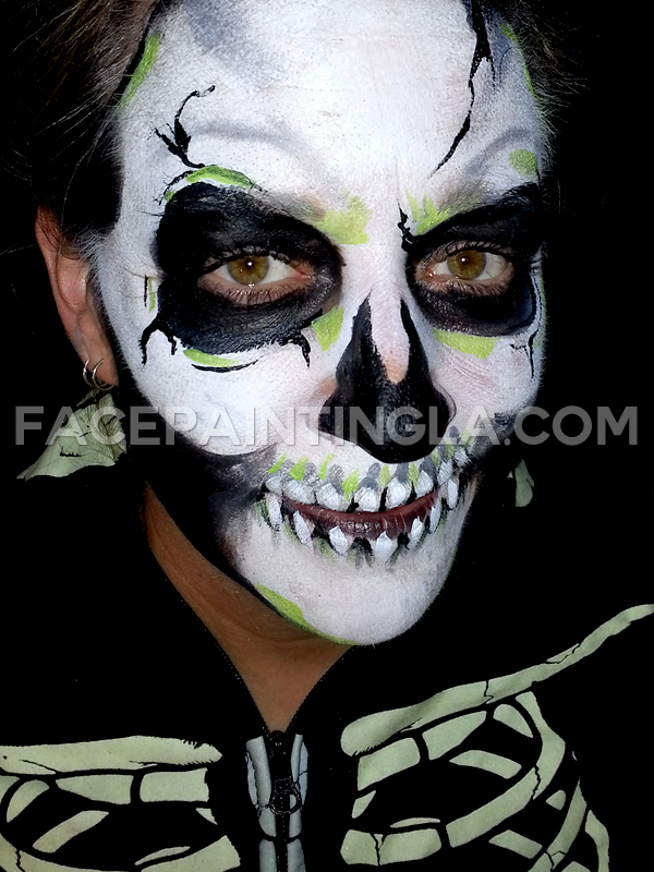 halloween girls skull facepaint face painter