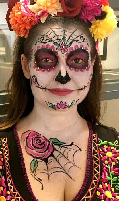 Face Painting La Day Of The Dead Dia De Los Muertos