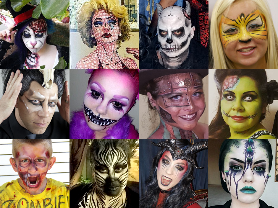 Create a completely unique one-of-a-kind original Halloween Costume with Face Painting LA. Through face and body painting lashes glitter and 3D FX we ...  sc 1 st  Face Painting Los Angeles & FACE PAINTING LA - Halloween Face Painting and Body Paint Costumes